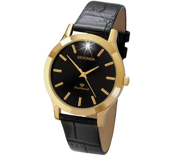 buy sekonda men s diamond black strap watch at argos co uk your sekonda men s diamond black strap watch283 2135