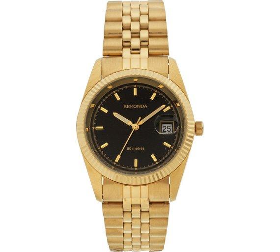 buy sekonda men s black dial bracelet watch at argos co uk your sekonda men s black dial bracelet watch283 5345