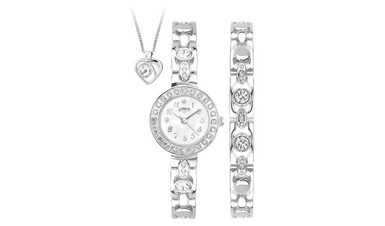 Buy Limit Ladies Silver Bracelet Pendant And Watch Set Womens Watches Argos