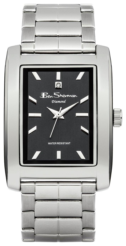 Image of Ben Sherman - Mens Silver Diamond Rectangular Dial - Watch