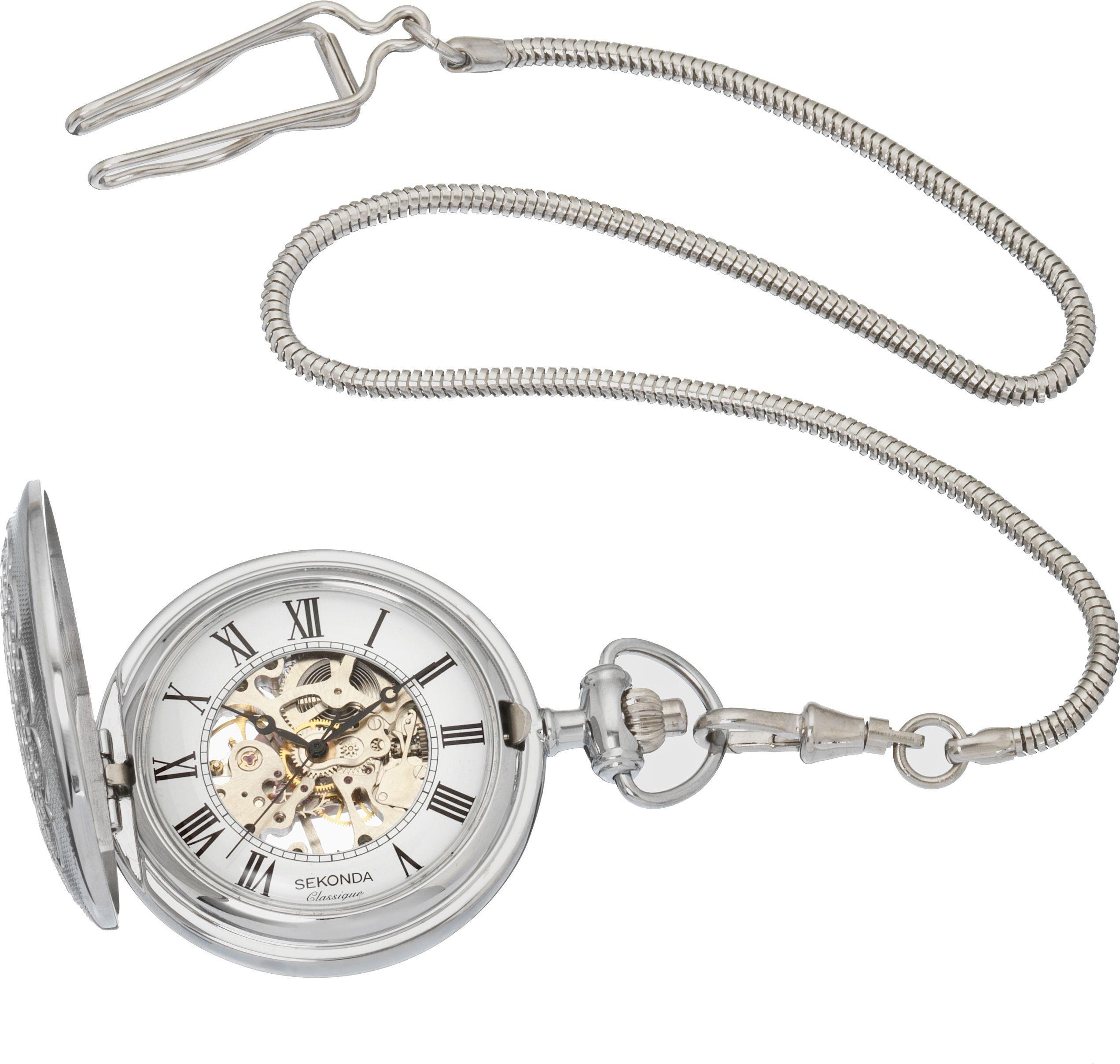 Sekonda Classique Men's Mechanical Skeleton Pocket Watch