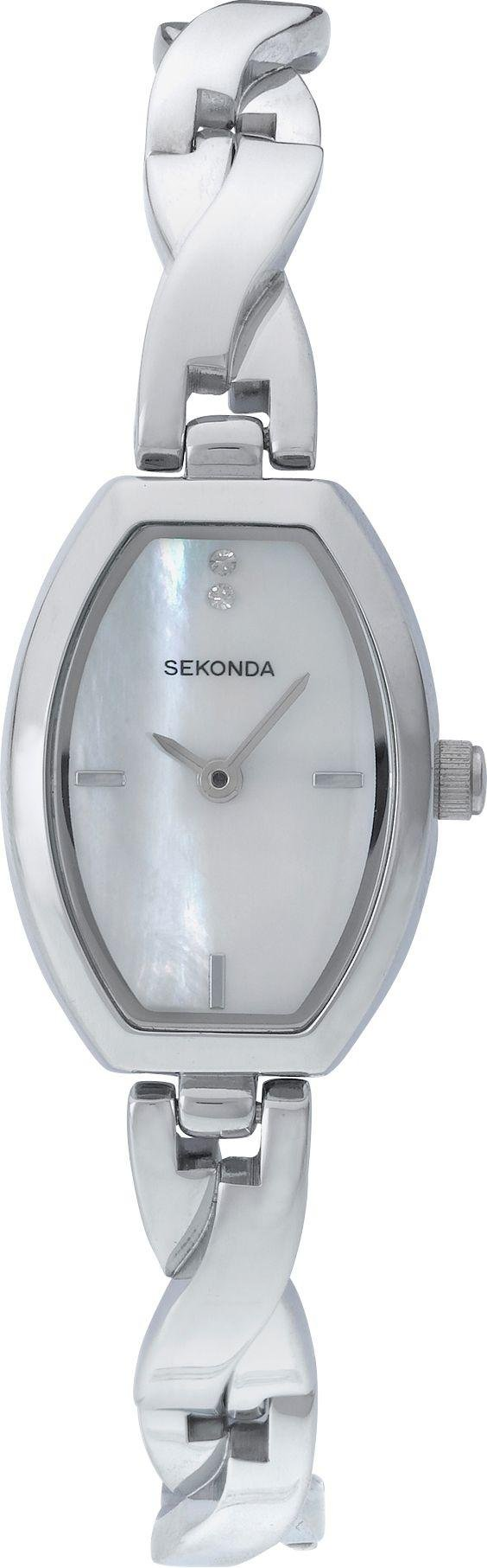 Sekonda Ladies' Silver Pendant and Watch Set