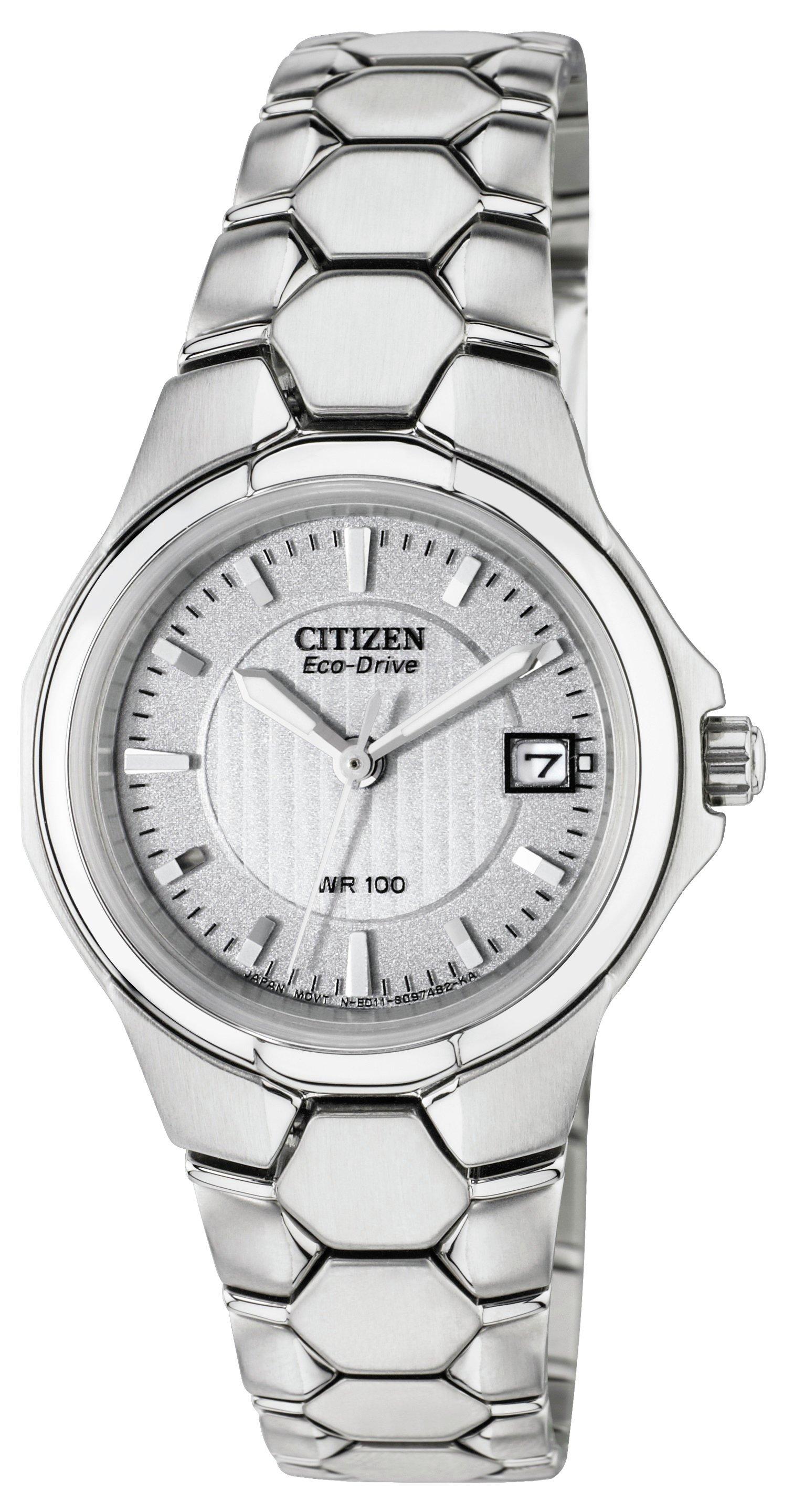 Image of Citizen - Ladies Eco-Drive Silver Tone Bracelet - Watch