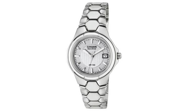 Citizen Ladies Eco-Drive Silver Tone Bracelet Watch