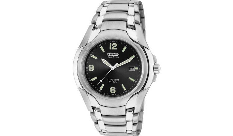 01912665e Buy Citizen Eco-Drive Men's Silver Titanium Bracelet Watch | Men's ...
