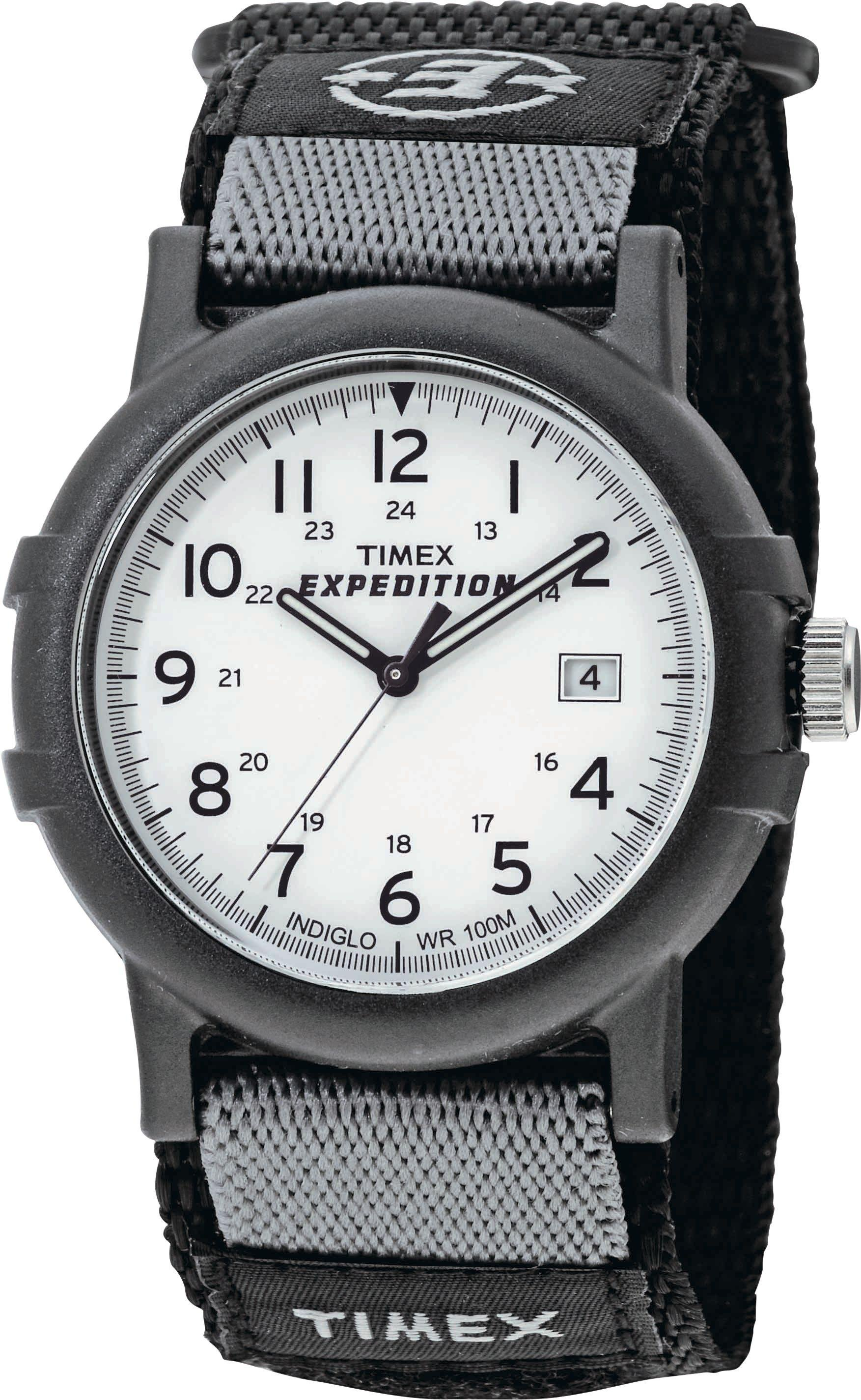 Timex Men's Expedition Black Fabric Strap Camper Watch