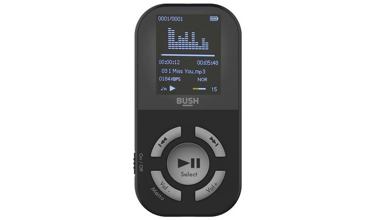 Bush 8GB MP3 Player With Display - Black