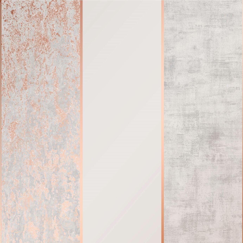 Superfresco Milan Stripe Rose Gold Wallpaper