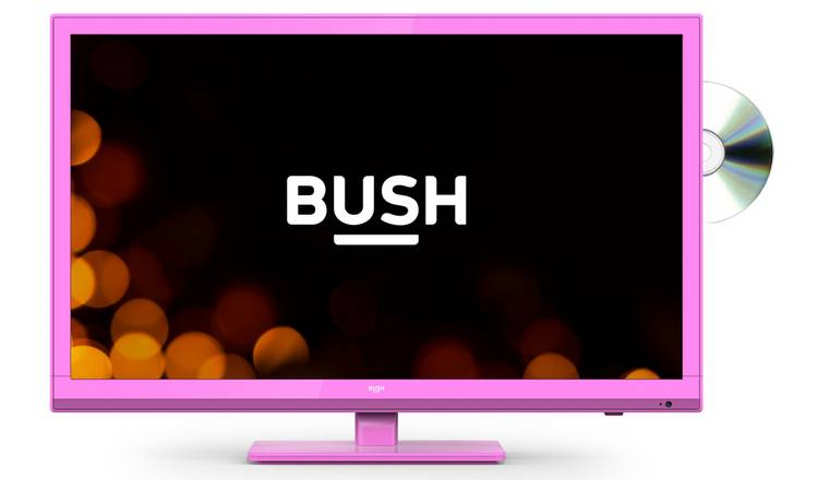Bush 24 Inch HD Ready TV/DVD Combi - Pink