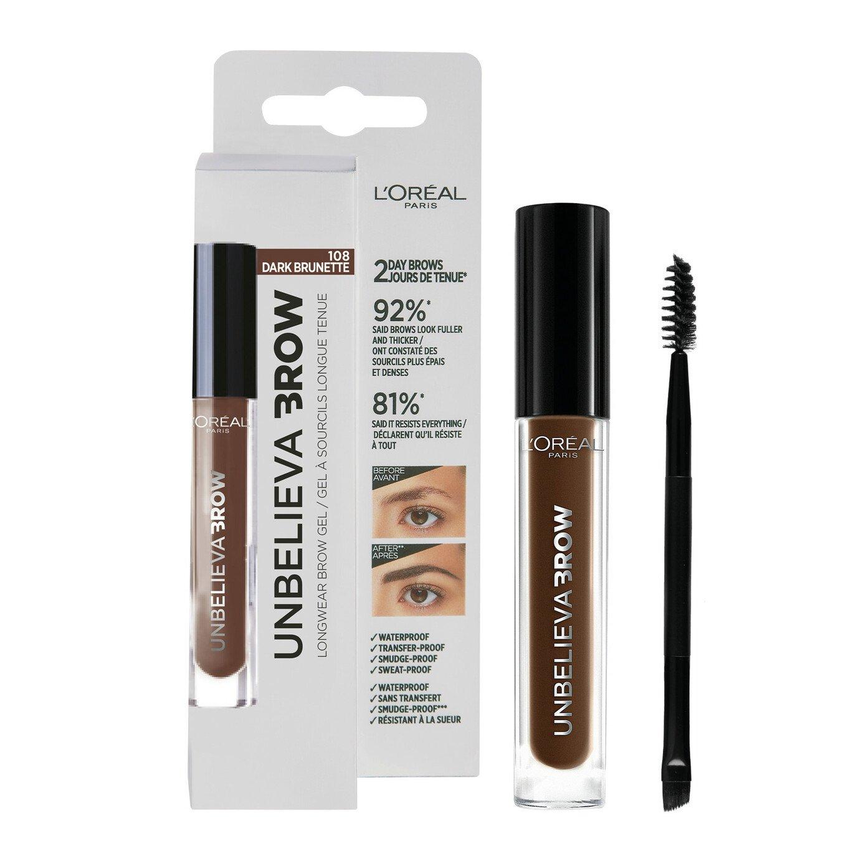L'Oreal Paris Unbelieva Eyebrow Gel - Dark Brunette