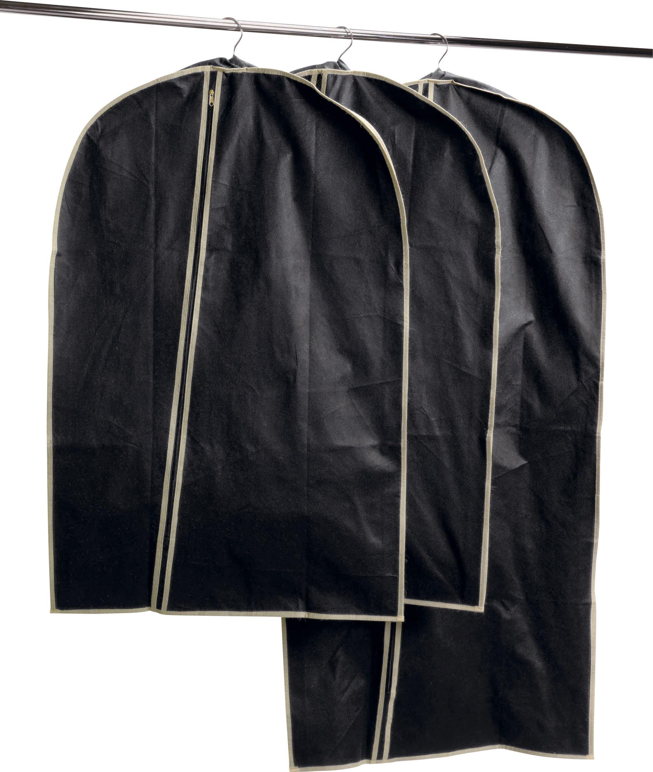 Black Set of 3 Suit Carriers