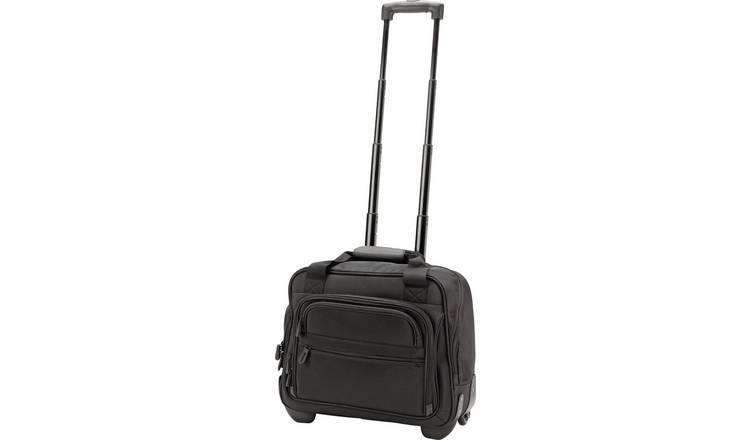 it Luggage 2 Wheel Soft Business Suitcase - Black