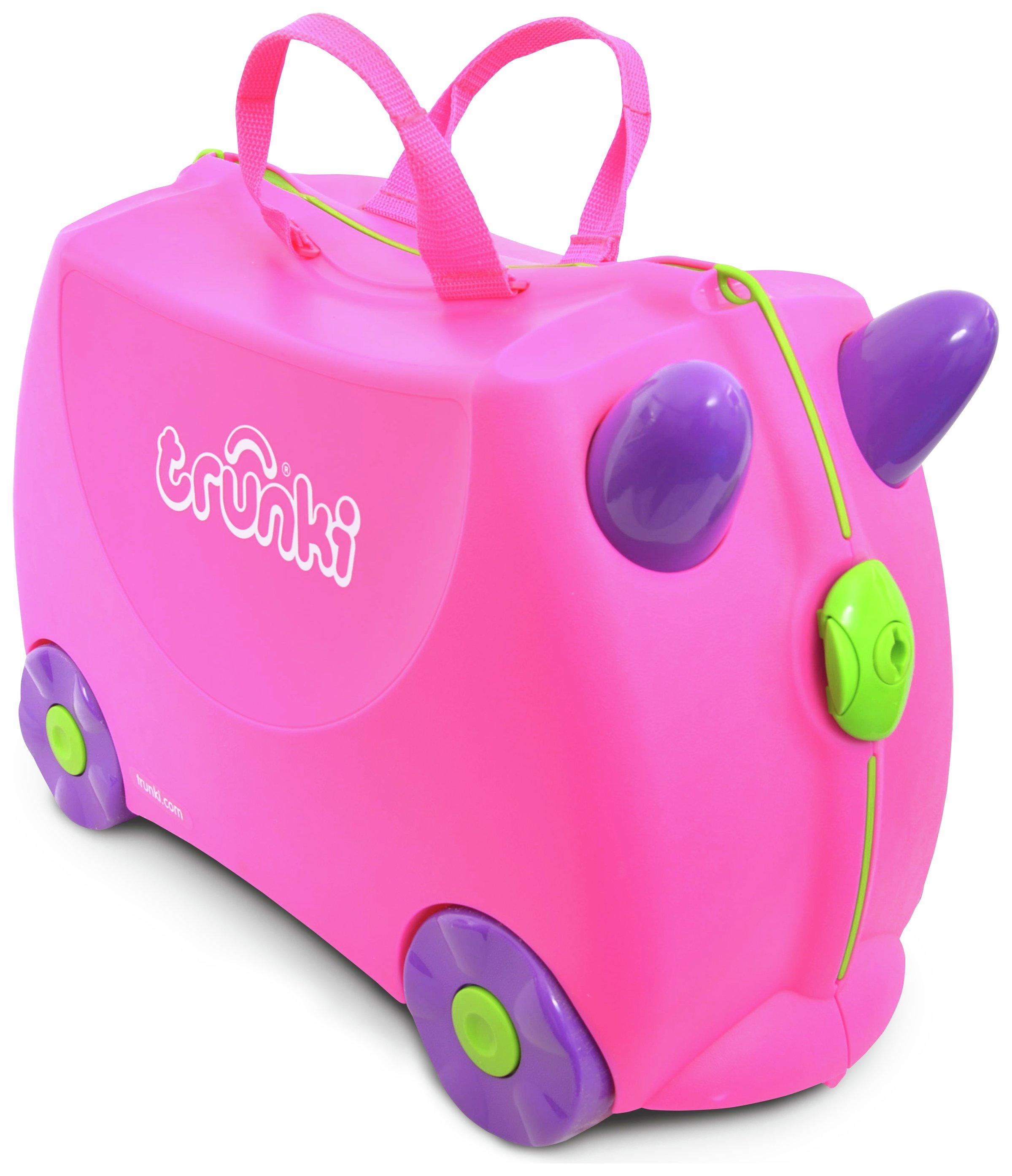 Trunki Trixie 4 Wheel Hard Ride On Suitcase - Pink