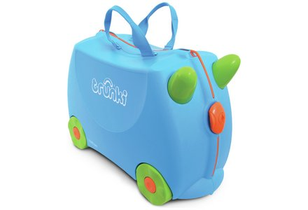 Image of Trunki Terrance Ride-On Suitcase - Blue.