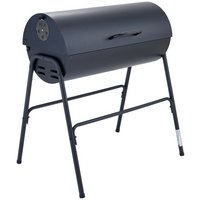 Argos Home Charcoal Oil Drum BBQ with Warming Rack