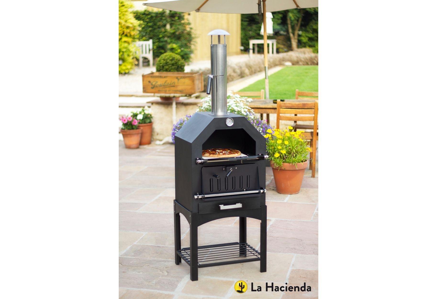 La Hacienda Steel Multi-Function Pizza Oven