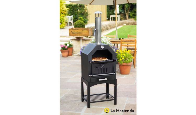 Buy La Hacienda Steel Multi Function Pizza Oven Pizza Ovens And Outdoor Ovens Argos
