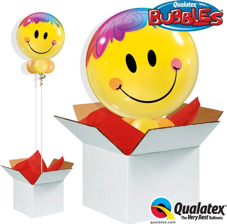 Argos - Bright Smile Face - Bubble - Balloon in a Box