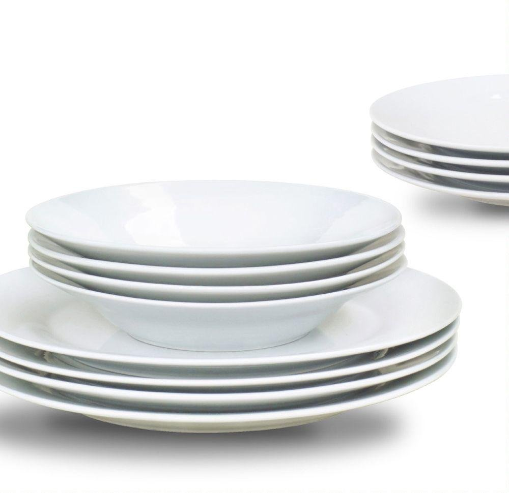 Image of Sabichi 12 Piece Day to Day Porcelain Dinner Set