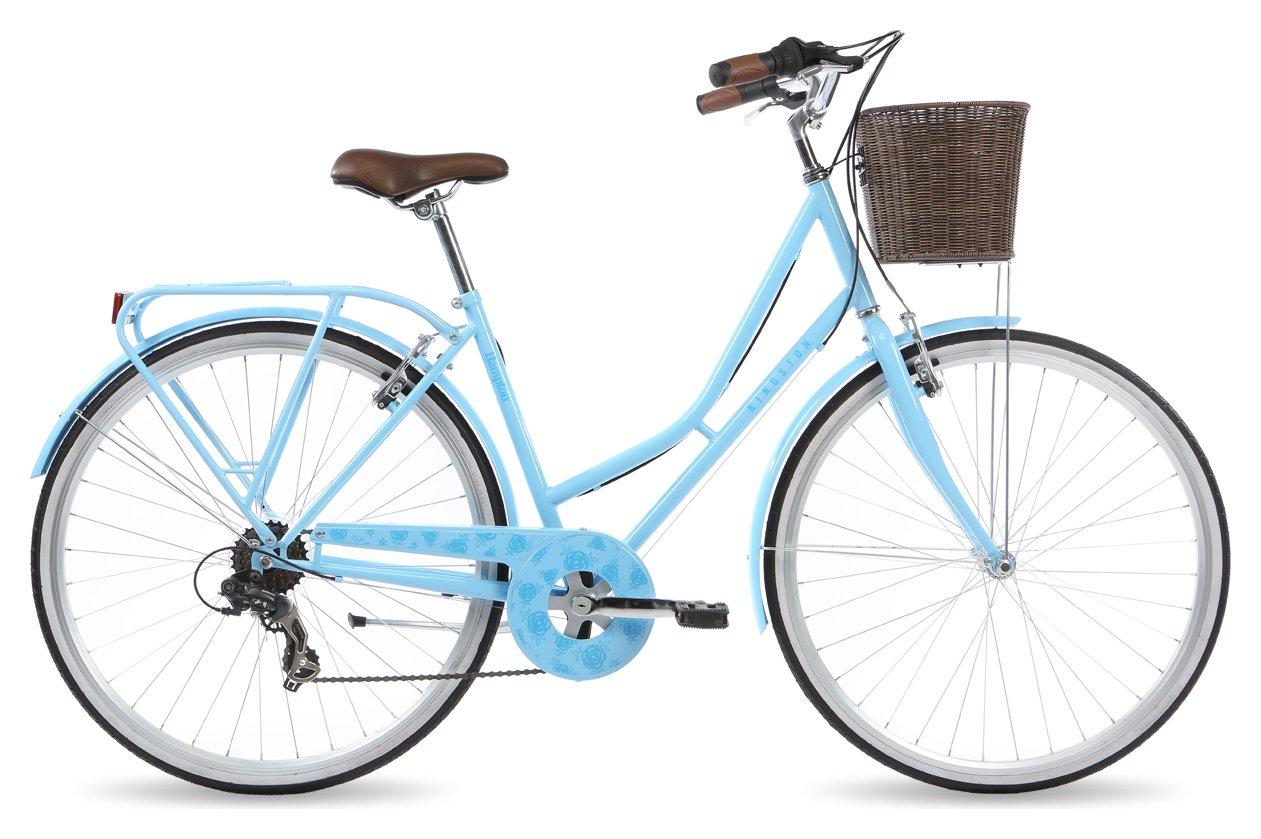 Kingston Hampton 16 Inch Frame Hybrid Bike Blue - Ladies'.