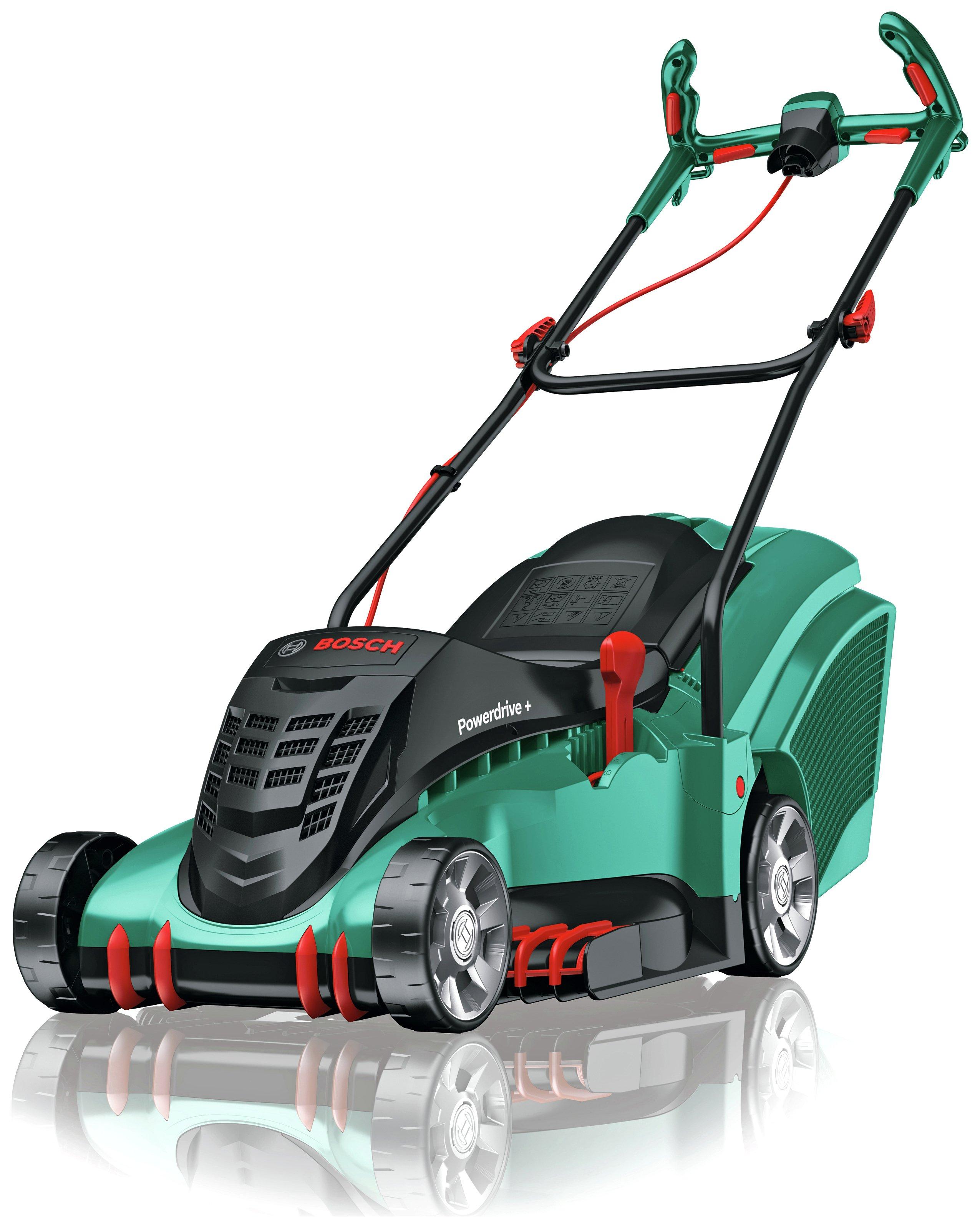 bosch rotak 40 17 ergoflex corded rotary lawnmower 1700w review. Black Bedroom Furniture Sets. Home Design Ideas