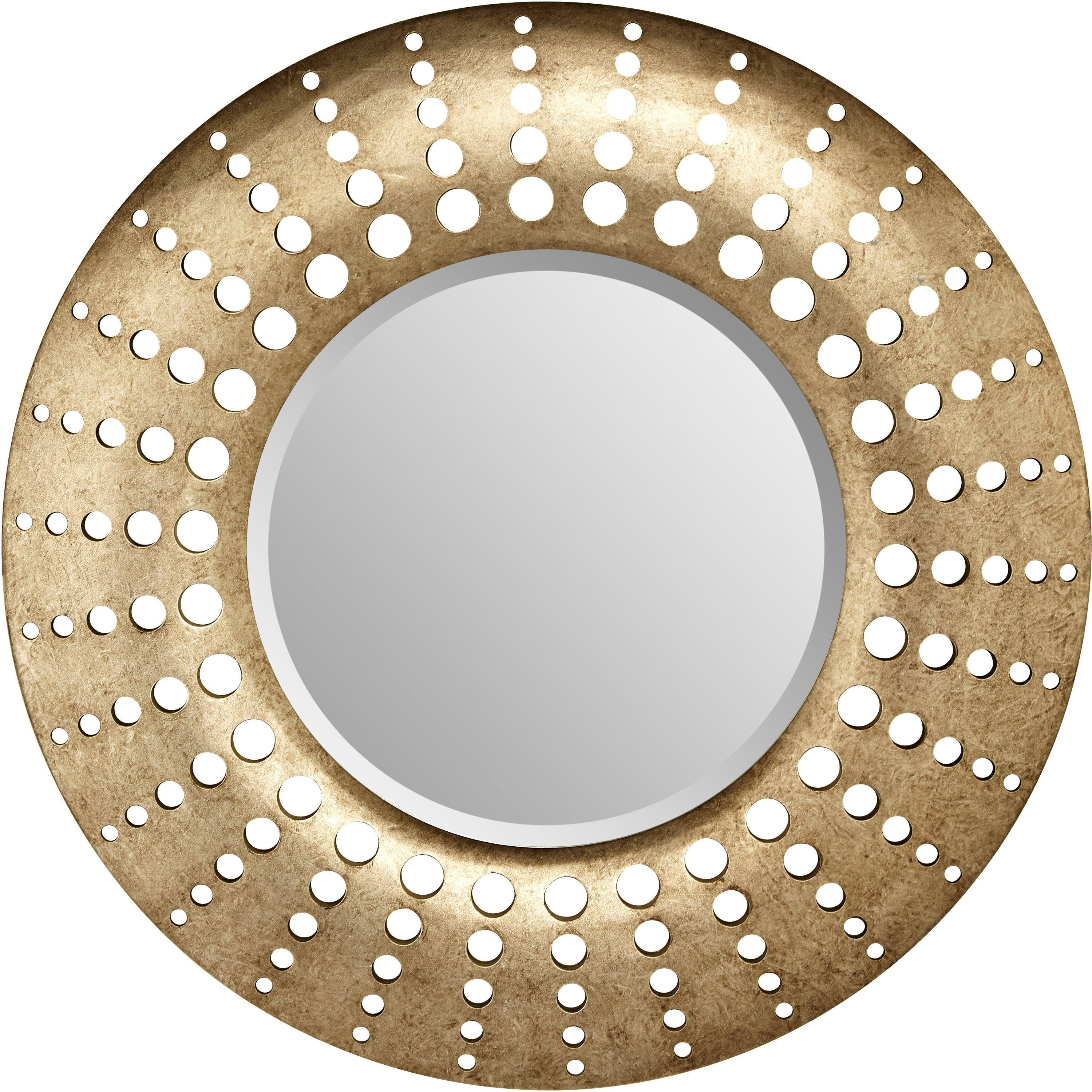 Arthouse Holed Mirror - Gunmetal.