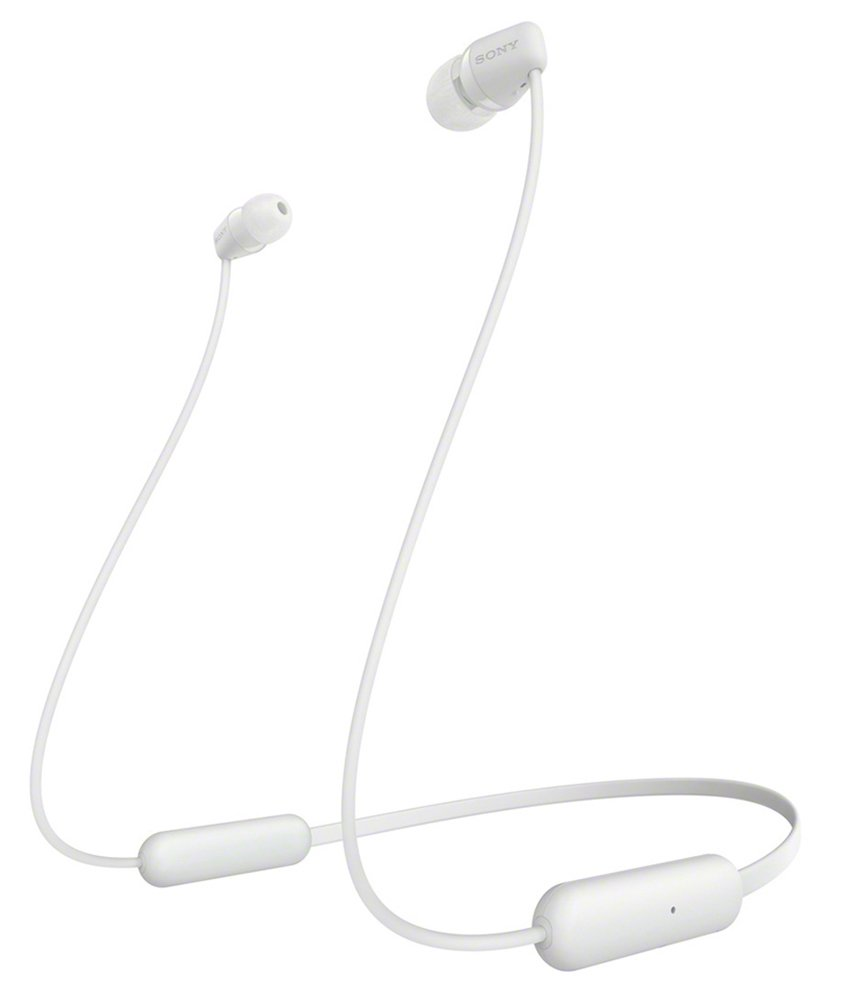 Sony WI-C200 In-Ear Wireless Headphones - White