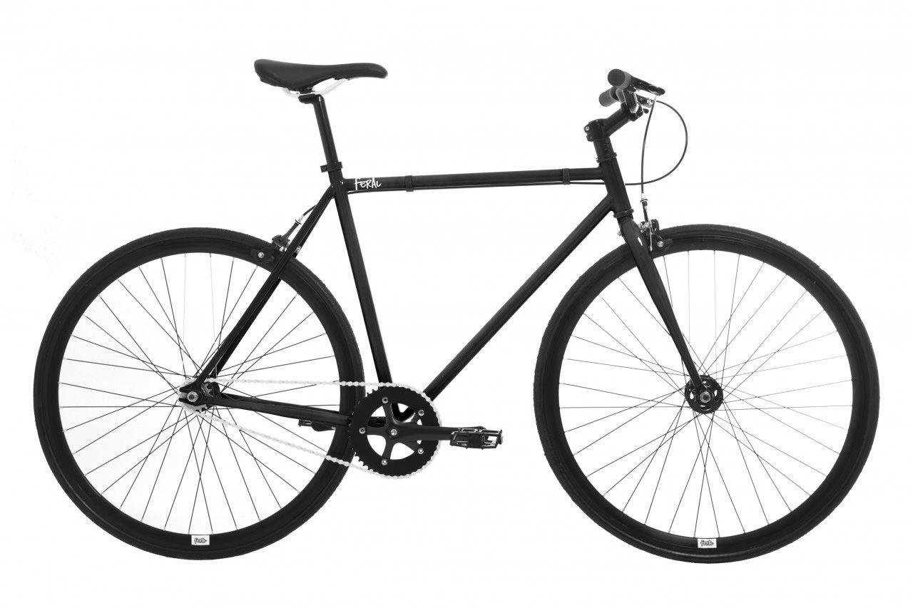 Image of Feral Fixie 59cm Frame Road Bike Black - Men's.