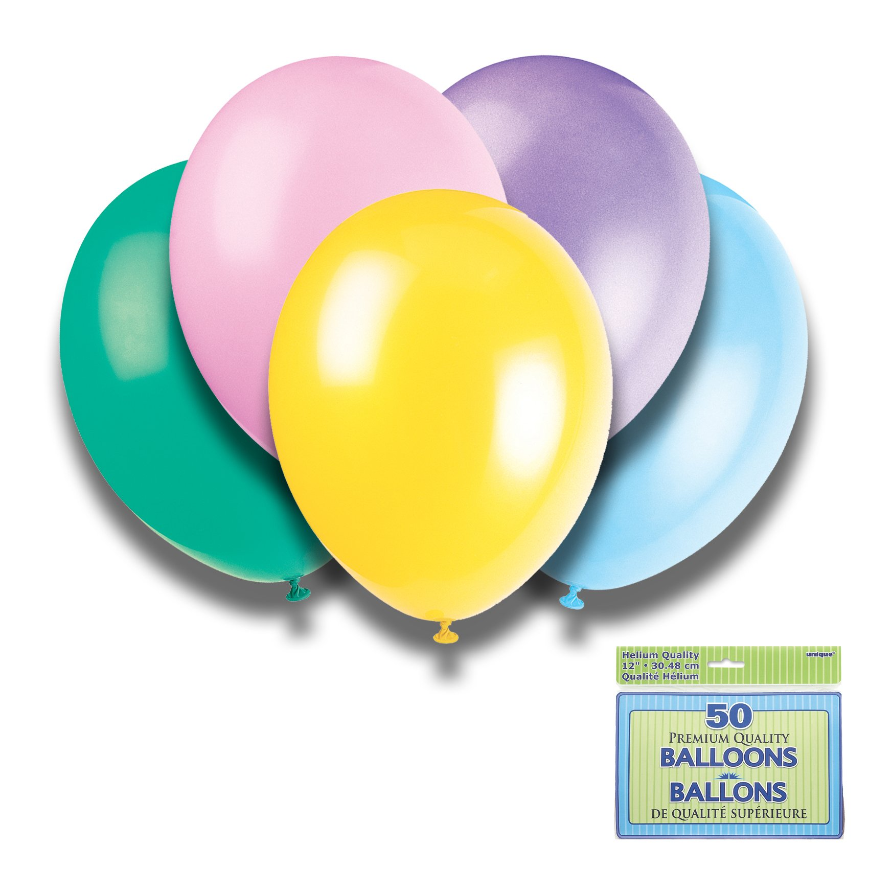 Argos - Assorted Pastel Colours - 12 Inch Premium Balloons - Pack...