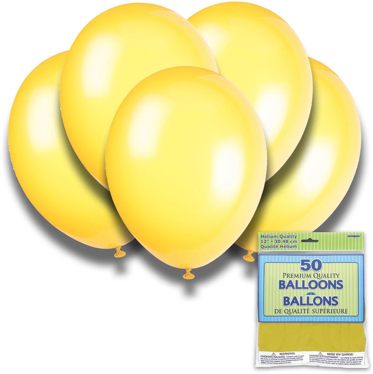 Argos - Lemon Yellow - 12 Inch Premium Balloons - Pack of...