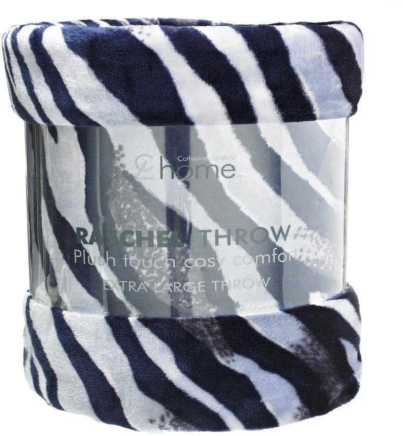 catherine lansfield zebra throw  black and white.