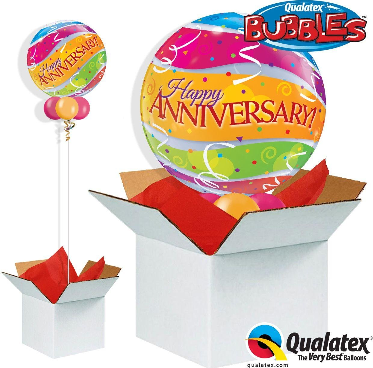 Argos - Anniversary Bands - Bubble - Balloon in a Box