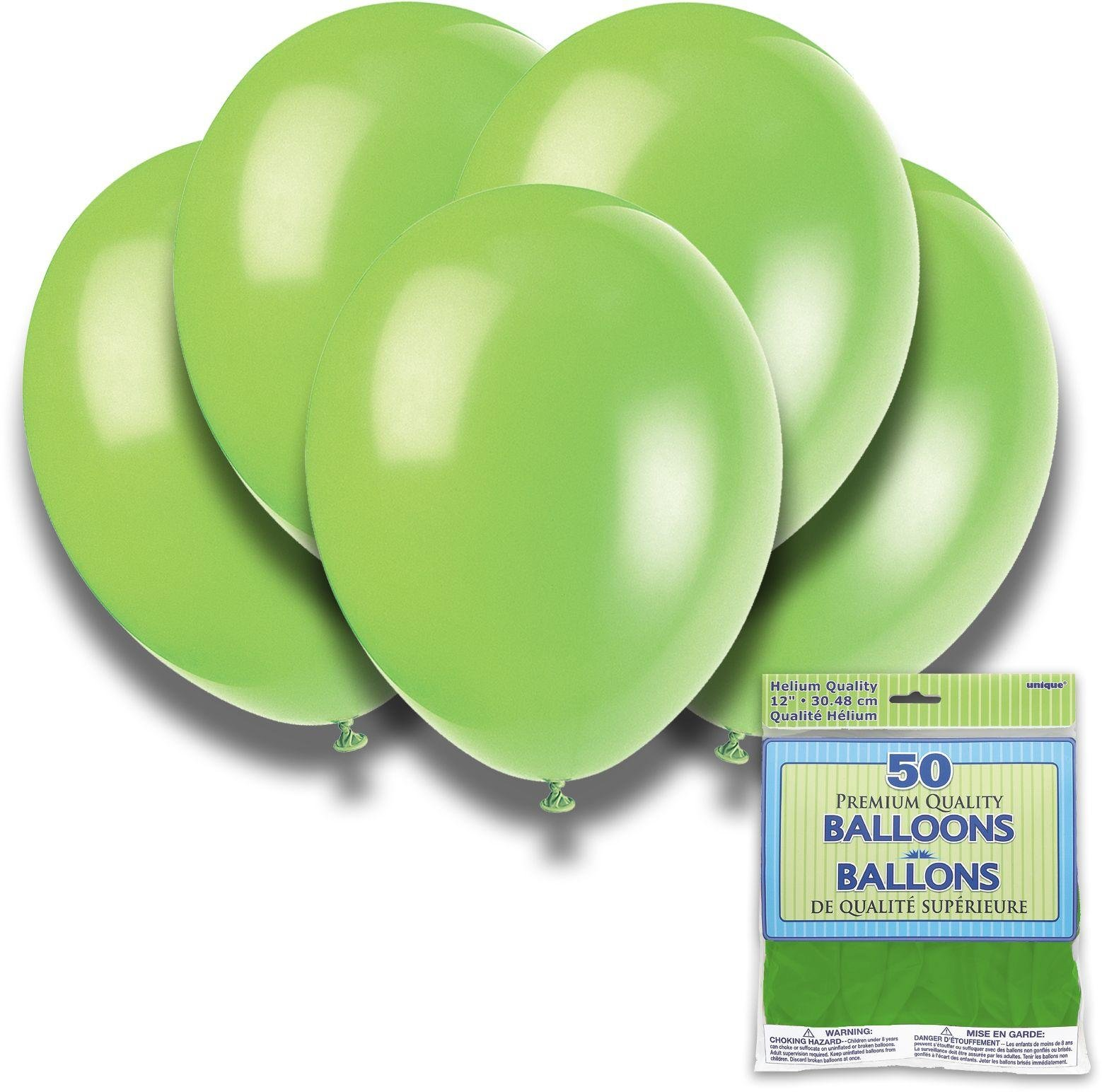 Argos - Neon Lime - 12 Inch Premium Balloons - Pack of...