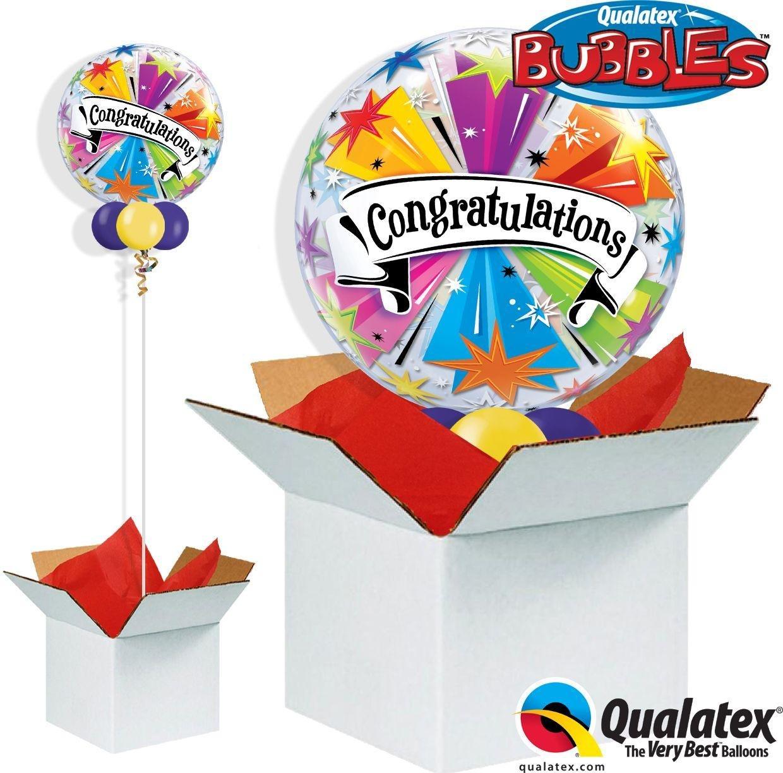 Argos - Congratulations Banner Blast - Bubble - Balloon in a Box