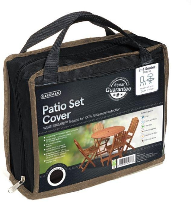 Gardman - 2-4 Seater Round Patio Cover Set - Grey lowest price