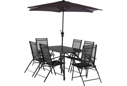 Image of the HOME Milan 6 Seater Patio Set.