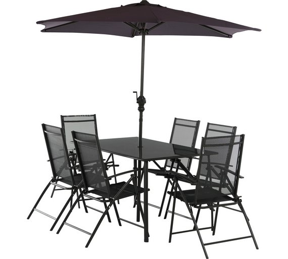 home milan 6 seater patio set - Garden Furniture 6 Seater