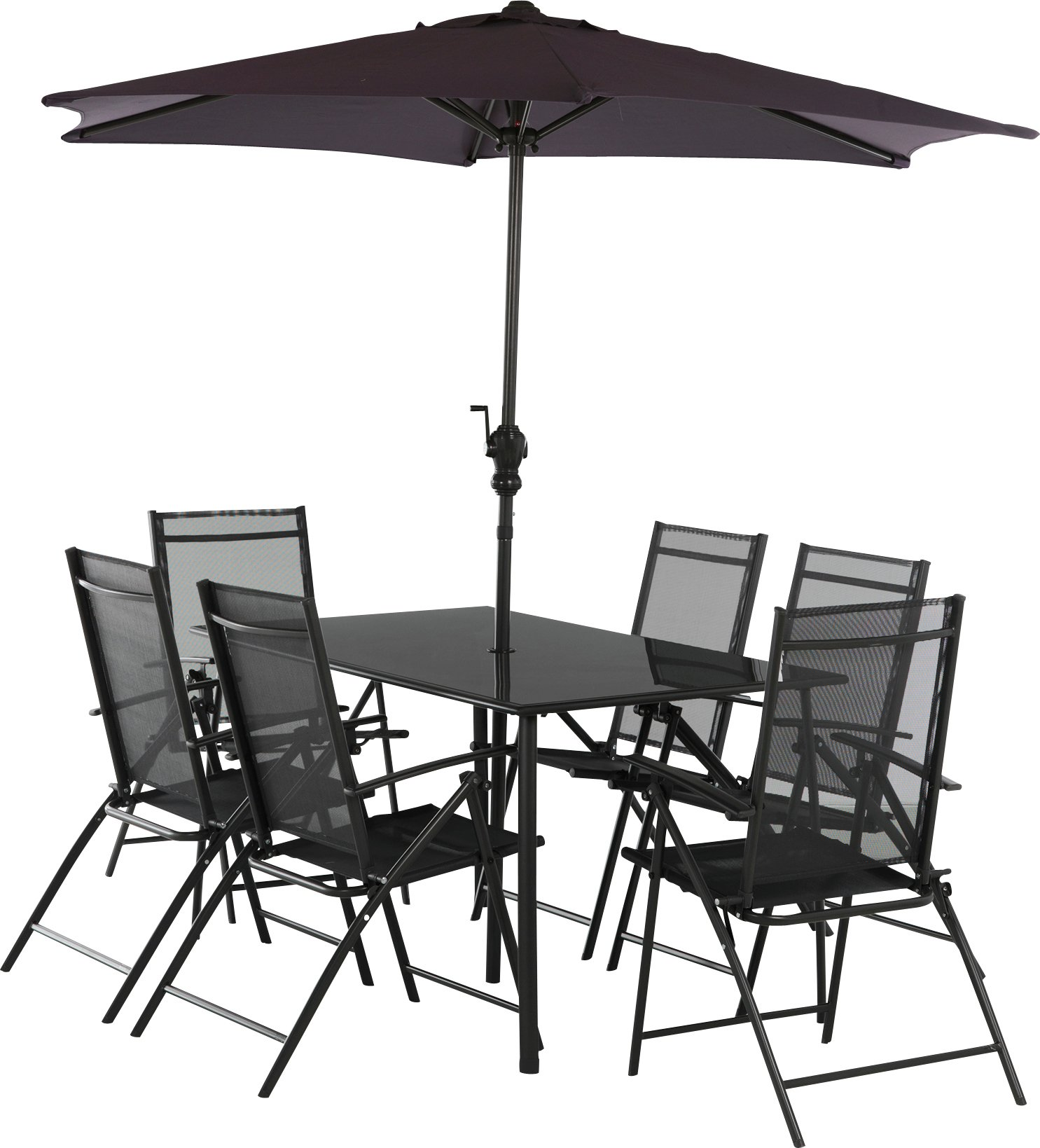 Buy HOME Milan 6 Seater Patio Set At Argos.co.uk   Your Online Shop For Garden  Table And Chair Sets, Garden Furniture, Home And Garden.