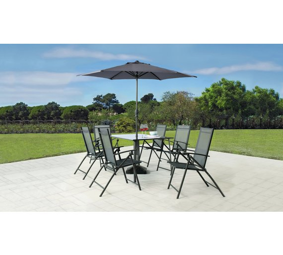 Argos Home Milan 6 Seater Metal Patio Set - Buy Argos Home Milan 6 Seater Metal Patio Set Garden Table And
