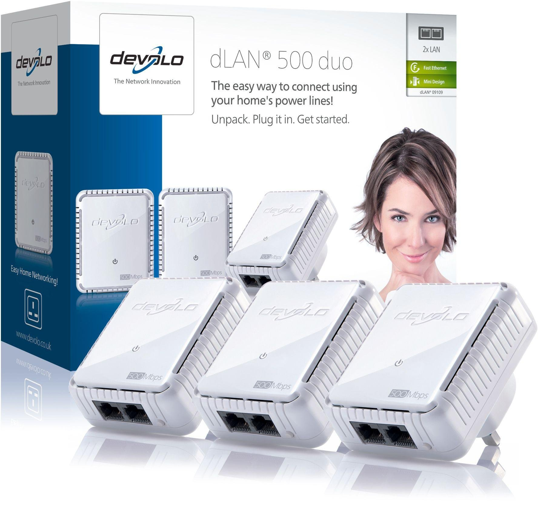 Devolo Devolo 500Mbps dLAN Powerline Network Kit.