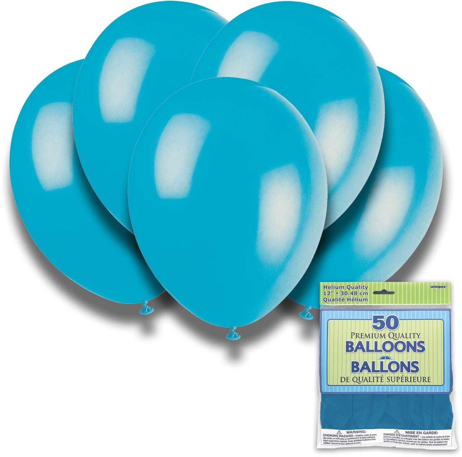 Argos - Turquoise - 12 Inch Premium Balloons - Pack of 50