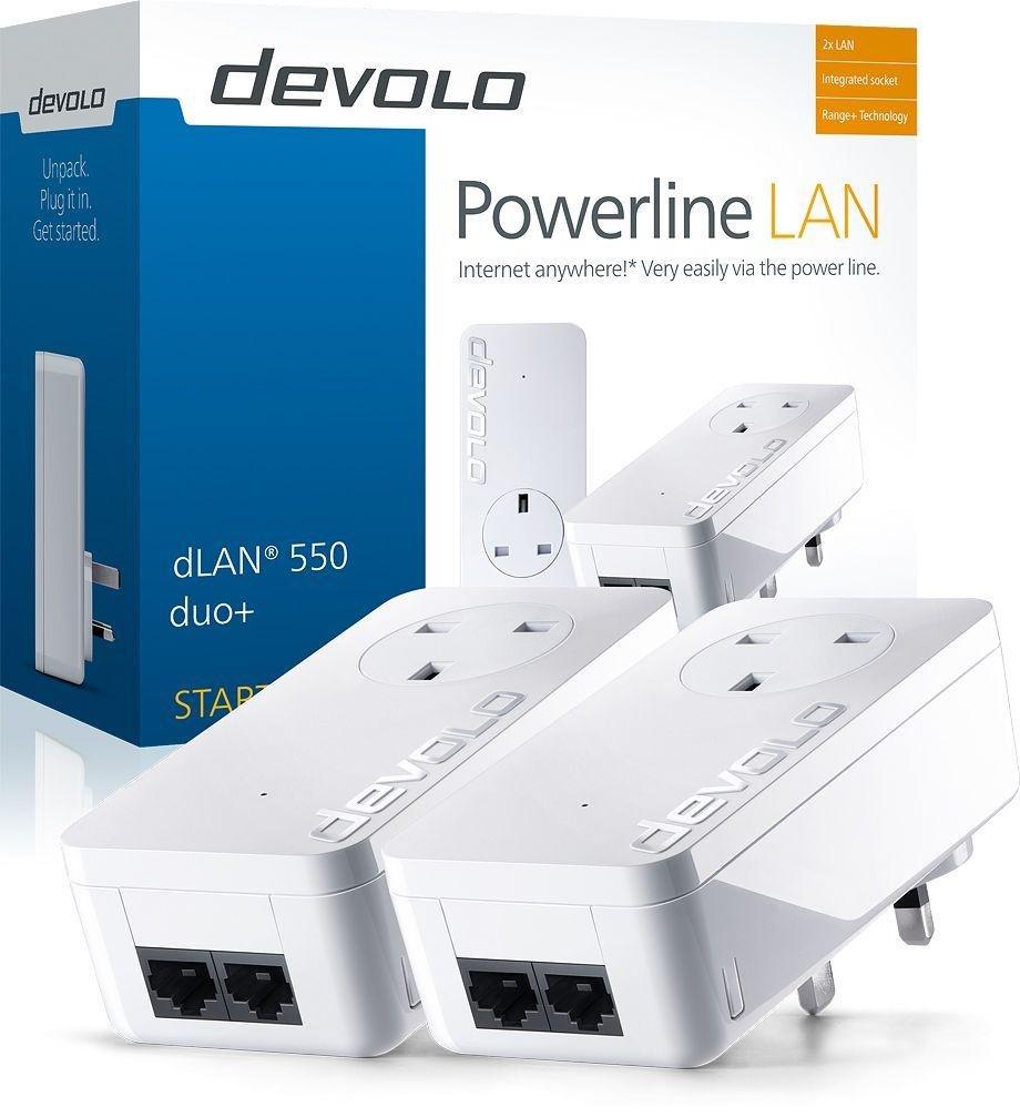 Image of Devolo - 500Mbps dLAN Powerline 550 Duo Plus Kit
