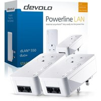 Devolo - 500Mbps dLAN Powerline 550 Duo Plus Kit