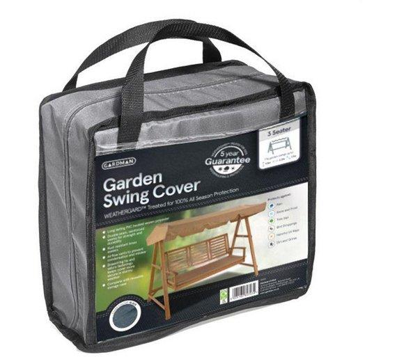 Gardman Garden Furniture Covers Buy gardman 3 seater garden swing cover black garden furniture click to zoom workwithnaturefo
