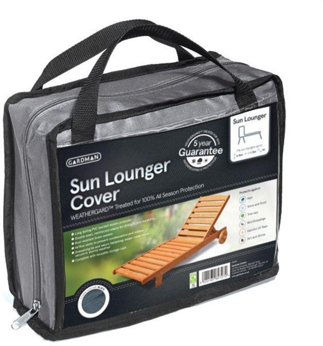 Gardman - Sunlounger Cover - Grey lowest price