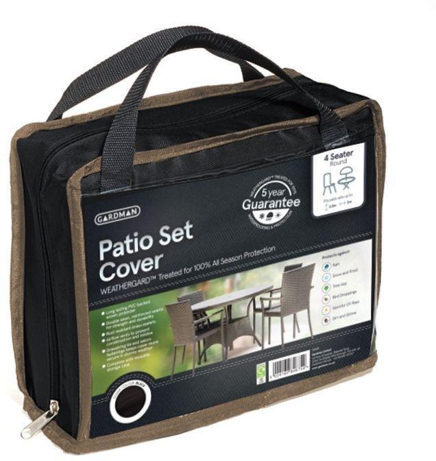 Gardman - 4 Seater Patio Round Cover Set - Black lowest price