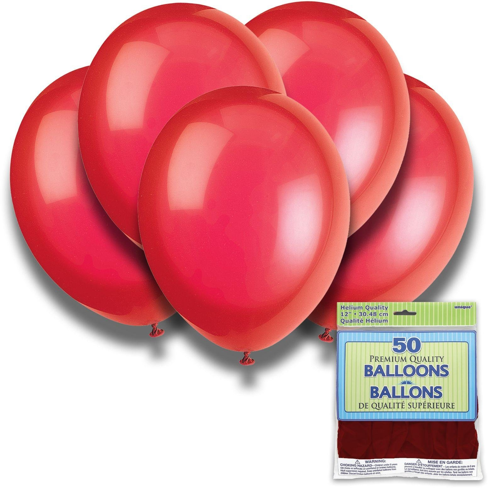 Argos - Scarlet Red - 12 Inch Premium Balloons - Pack of...