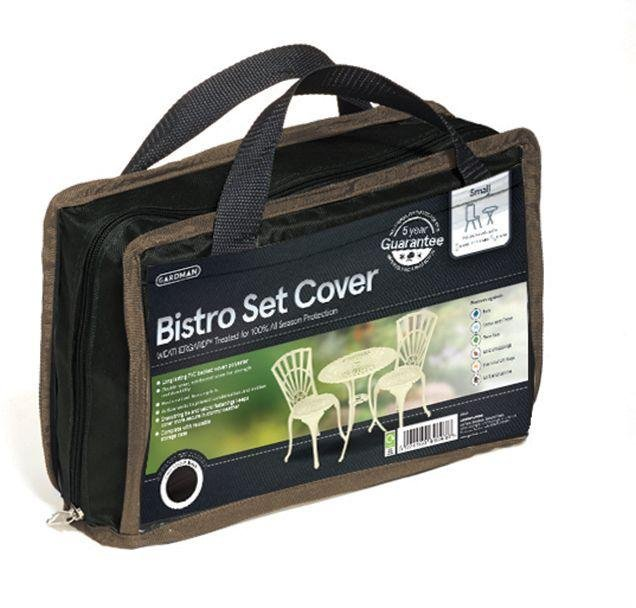 Gardman - Small - 2 Seater Bistro Set Cover - Black lowest price