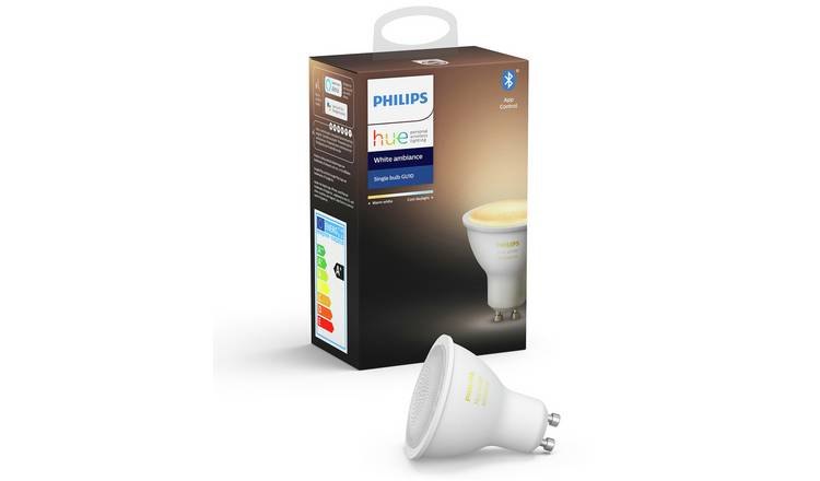 Philips Hue GU10 White Ambiance Smart Bulb with Bluetooth