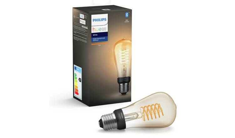 Philips Hue ST64 White Smart Filament Bulb with Bluetooth